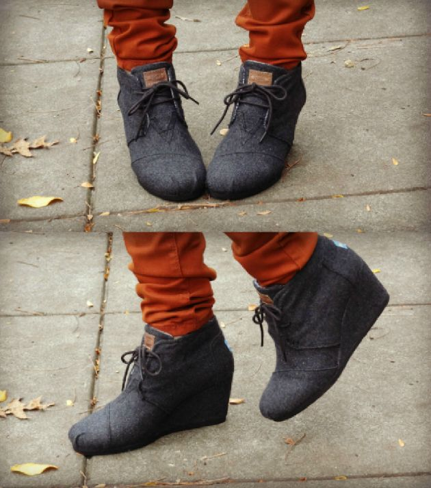 ec4a2852d25 Toms Wedge Booties! I got these for my birthday and they are lovely ...