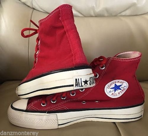 bdaa374ae8b0d MADE-IN-USA-80-CONVERSE-CHUCK-TAYLOR-RED-CANVAS-EXTRA-STITCHING-SIZE ...