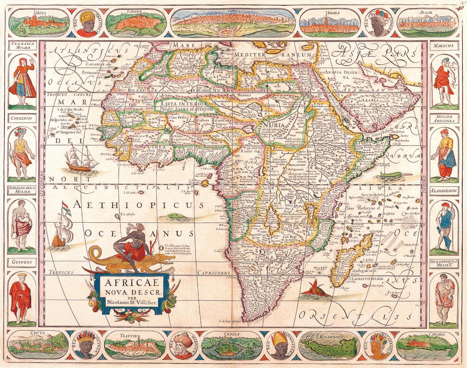 Vintage Africa Map vintage travel Pinterest Africa map