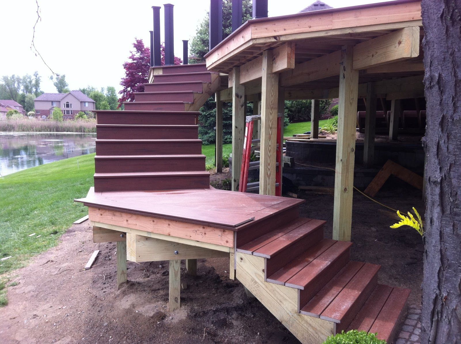 Outdoor Deck Stair Designs In Stair Design Ideas For Decks Stair ...