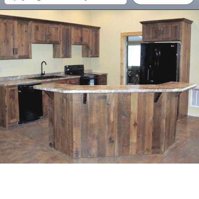 Barn Wood Kitchen: Bar, Barn Wood And