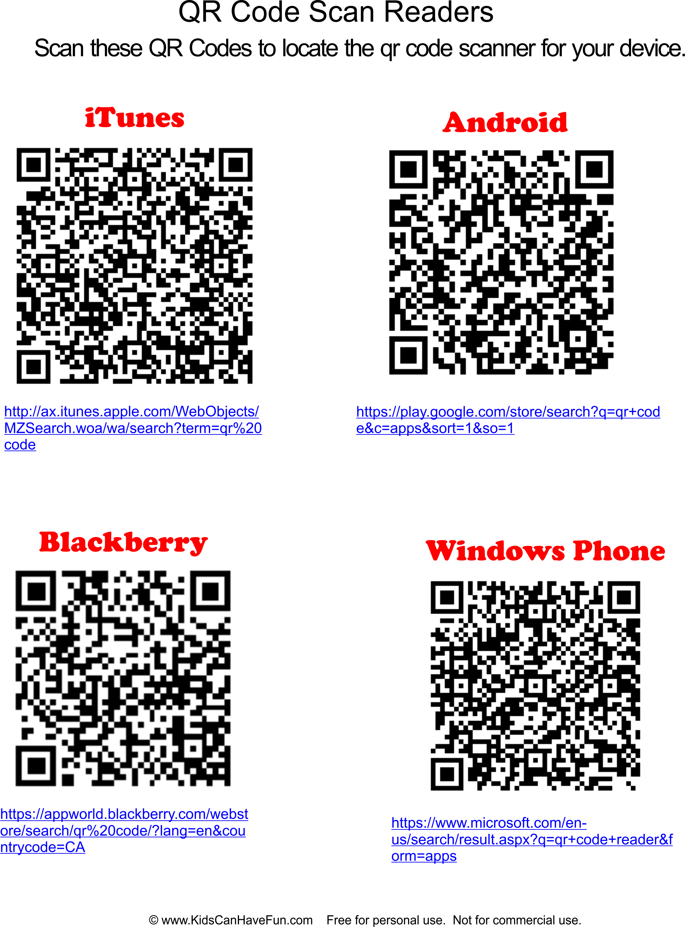 Qr Code Links To Qr Code Scanner Downloads For Smartphones And Tablets Http Www Kidscanhavefun Com Qr Codes For Kids Htm Qrco Coding For Kids Coding Qr Code