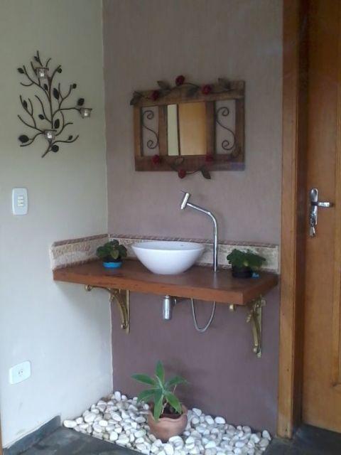 bancada decorada Ideias para a casa Pinterest Bancadas - lavabos pequeos