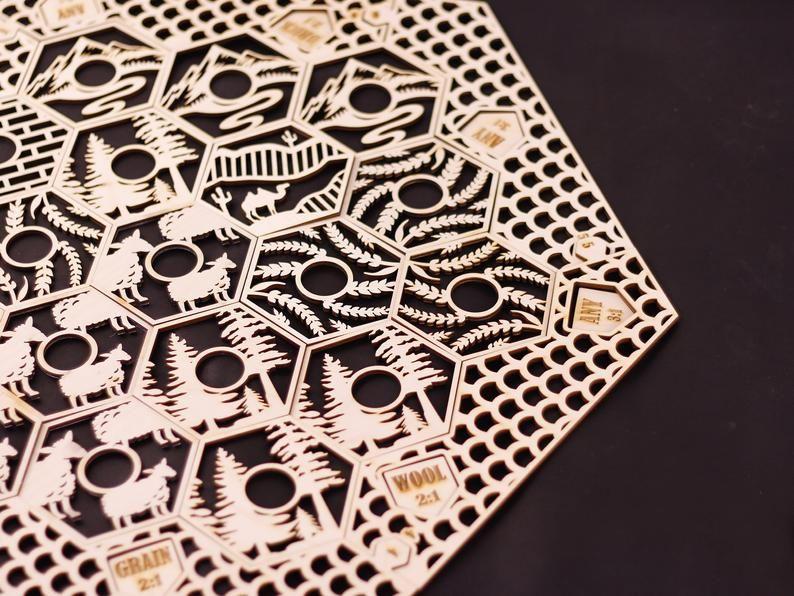 DIY Catan Board Unfinished 34 / 5 6Players. Handmade