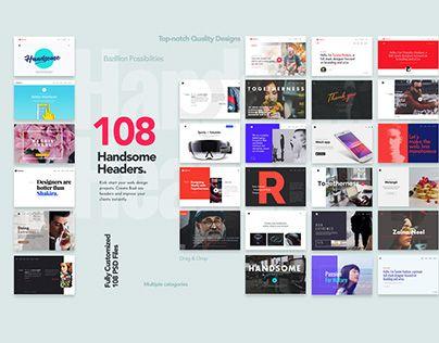 Check Out New Work On My Behance Portfolio 108 Handsome Headers Http Be Net Gallery 40762529 108 Handsome Website Header Web Design Resources Web Design