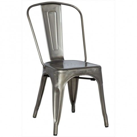 French Inspired Industrial Galvanized Chair (Set of Four)