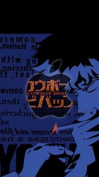 Cowboy Bebop Anime Iphone7 Wallpaper Featuring Spike Spiegel Apple
