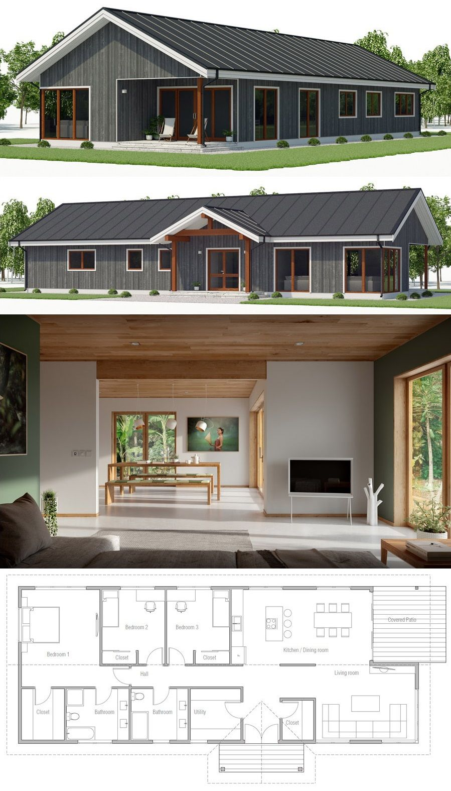 House Plan Ch530 Small House Plan Modern House Plans Small House Plans