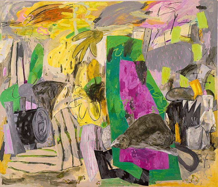 "Alfredo Gisholt, Voy a vivir, 2013 Oil on canvas, 72"" x 84"""