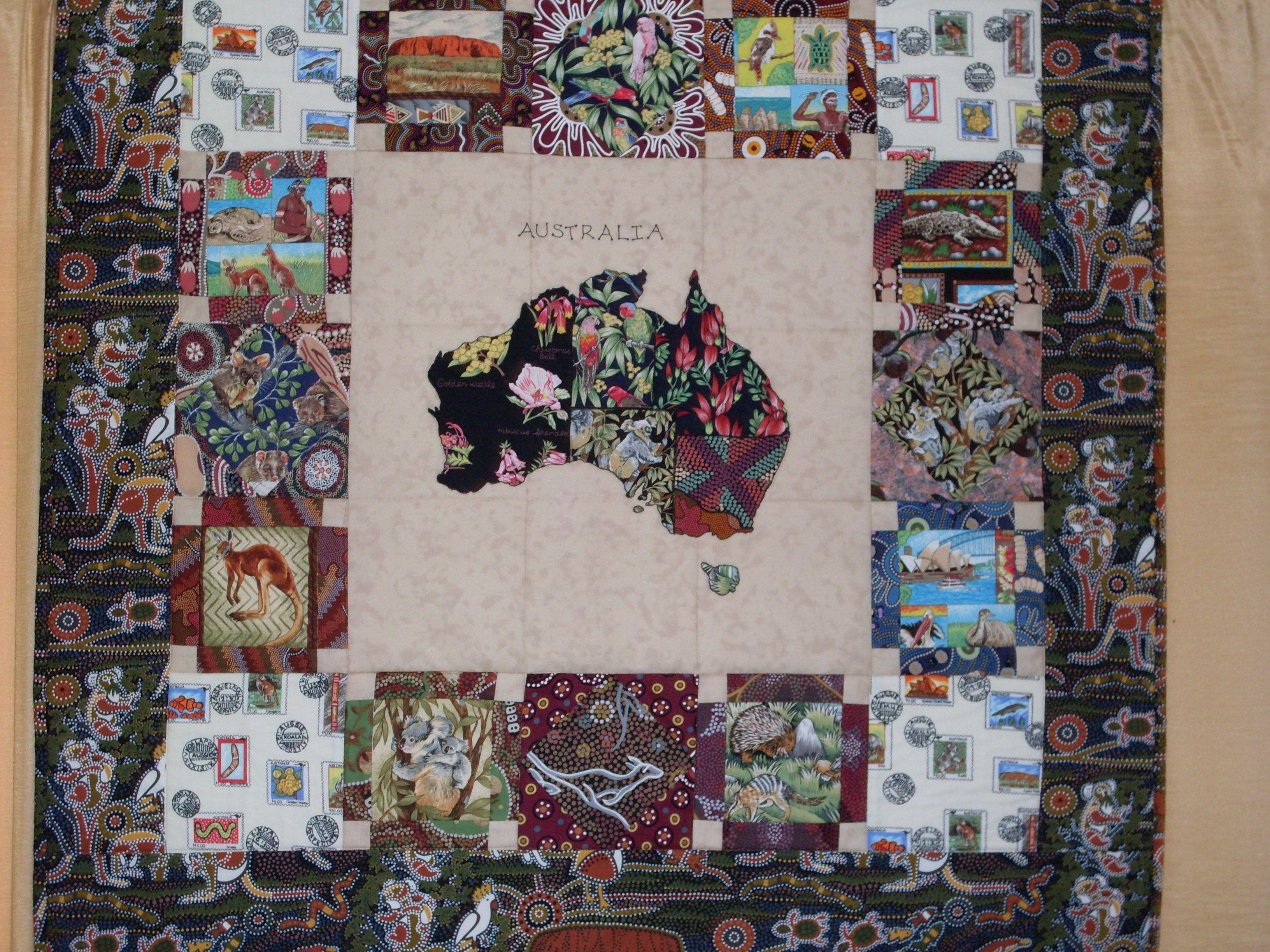 Australia Quilt   Quilting designs, Quilting crafts, Quilt patterns