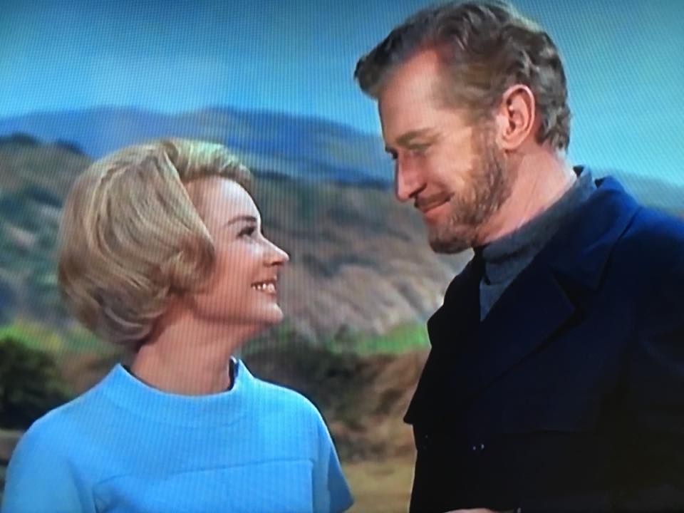 """Hope Lange and Edward Mulhare in TV's """"Ghost and Mrs. Muir""""   Old tv shows,  Tv series, Great memories"""