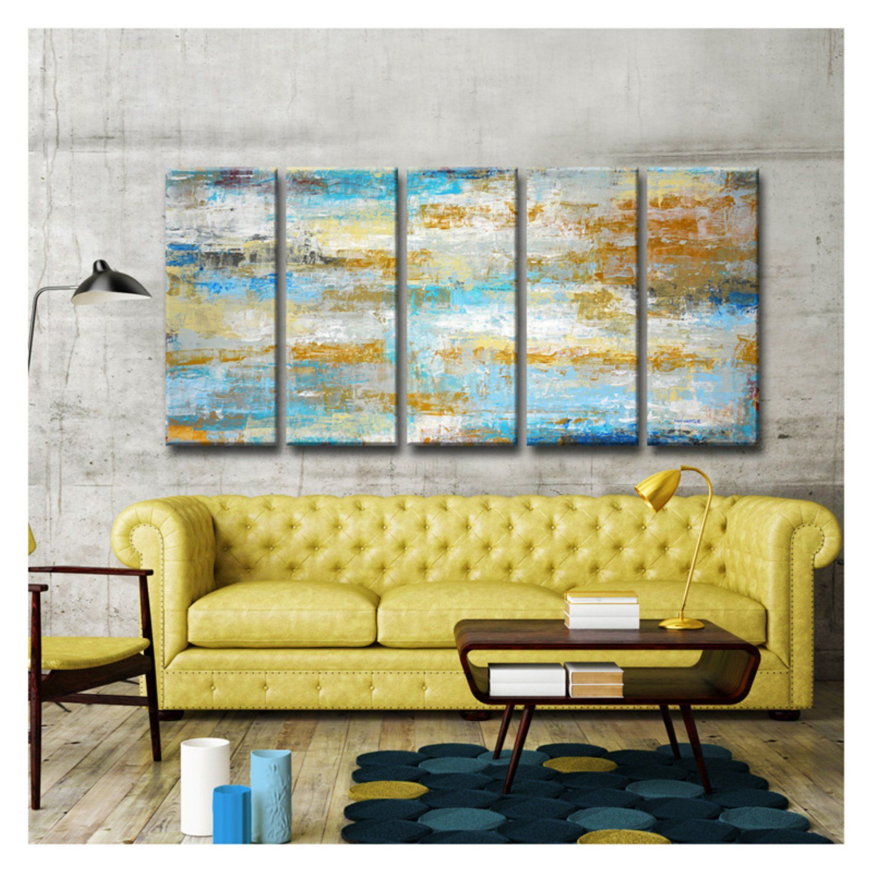 Colorful Matching Canvas Wall Art Motif - Wall Art Collections ...