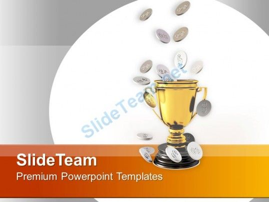Golden Trophy With Silver Coins Powerpoint Templates Ppt Themes And Graphics 0313 PowerPoint