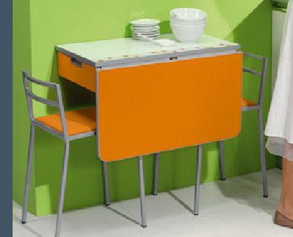 Resultado de imagen de mesa pared mesas pinterest mesas plegables cocina peque a ikea y mesas - Muebles plegables para viviendas pequenas ...
