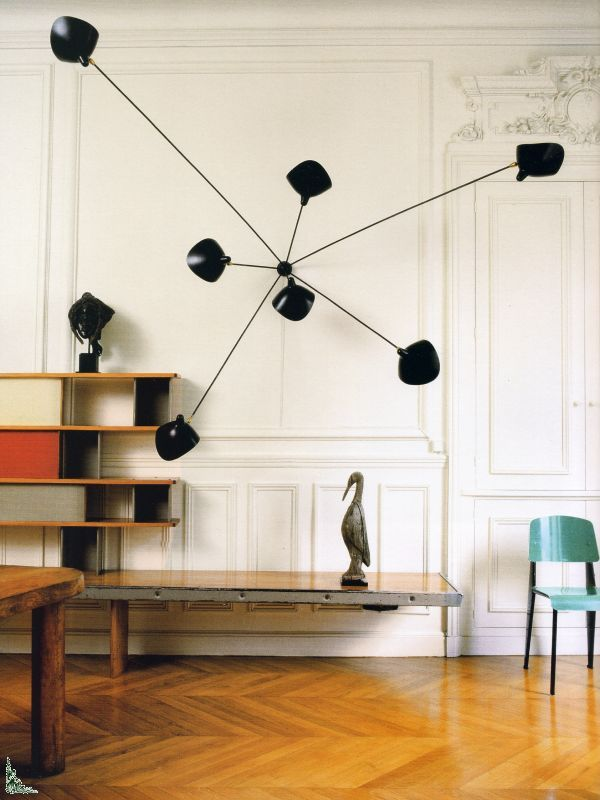 Perriand, Prouve and Serge Mouille Lighting Pinterest Serge