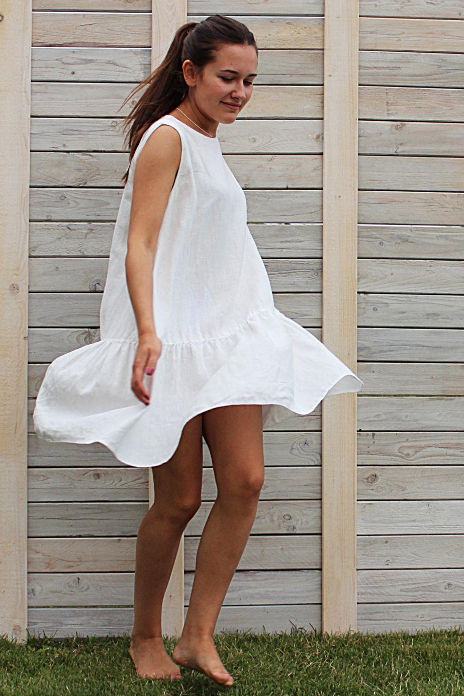 Linen Summer Dress Sleeveless Dress Day Dress Loose Fit Etsy Loose Fitting Dresses Summer Dresses Summer Linen Dresses [ 1383 x 923 Pixel ]