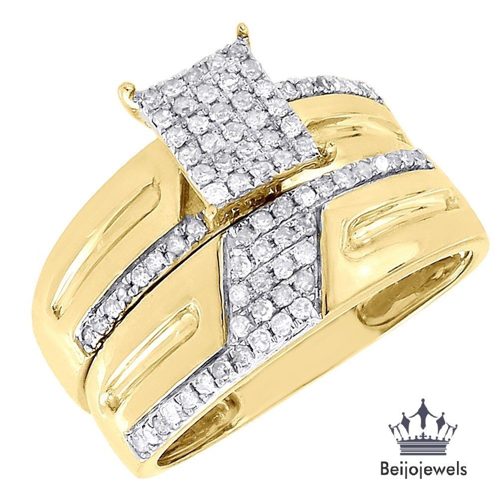 Womens 240 Ct Round Diamond Wedding Bridal Set Engagement Ring 14K