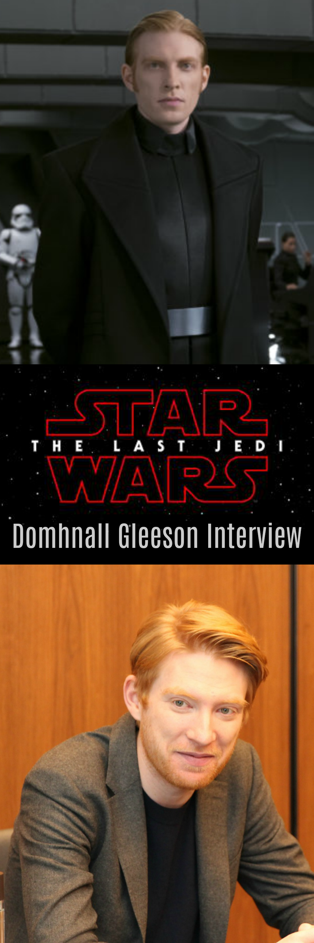 Domhnall Gleeson Discusses The Motivations Of General Hux And Why He Waited Until The Premiere To See The Last Domhnall Gleeson Star Wars Geek Star Wars Memes