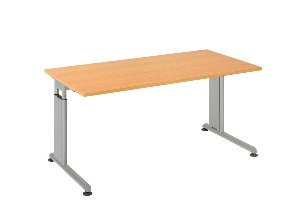 Schreibtisch 160 X 80 Cm Gestell Silber Hohenverstellbar 68 82 Cm 7 Dekore Ebay Schreibtisch Tisch Buro Schreibtisch