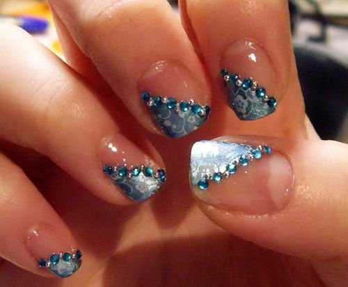 Half Nail Polish Designs Nails Unas Disenos De Unas