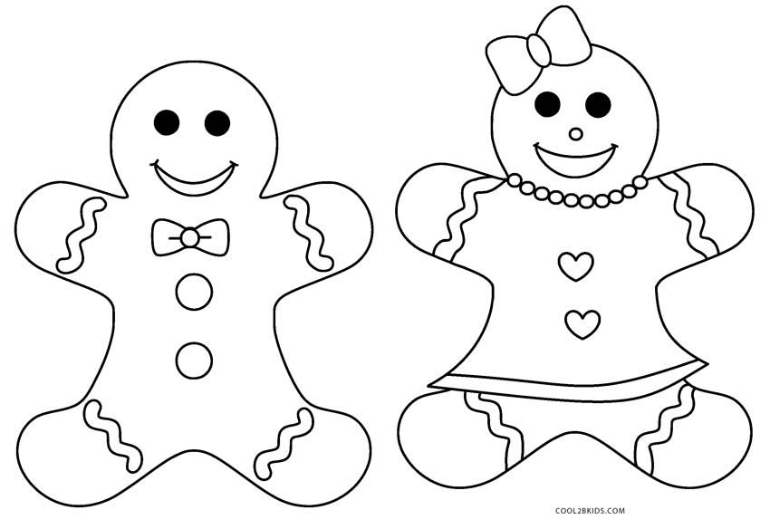 Gingerbread Man Coloring Pages For Adults