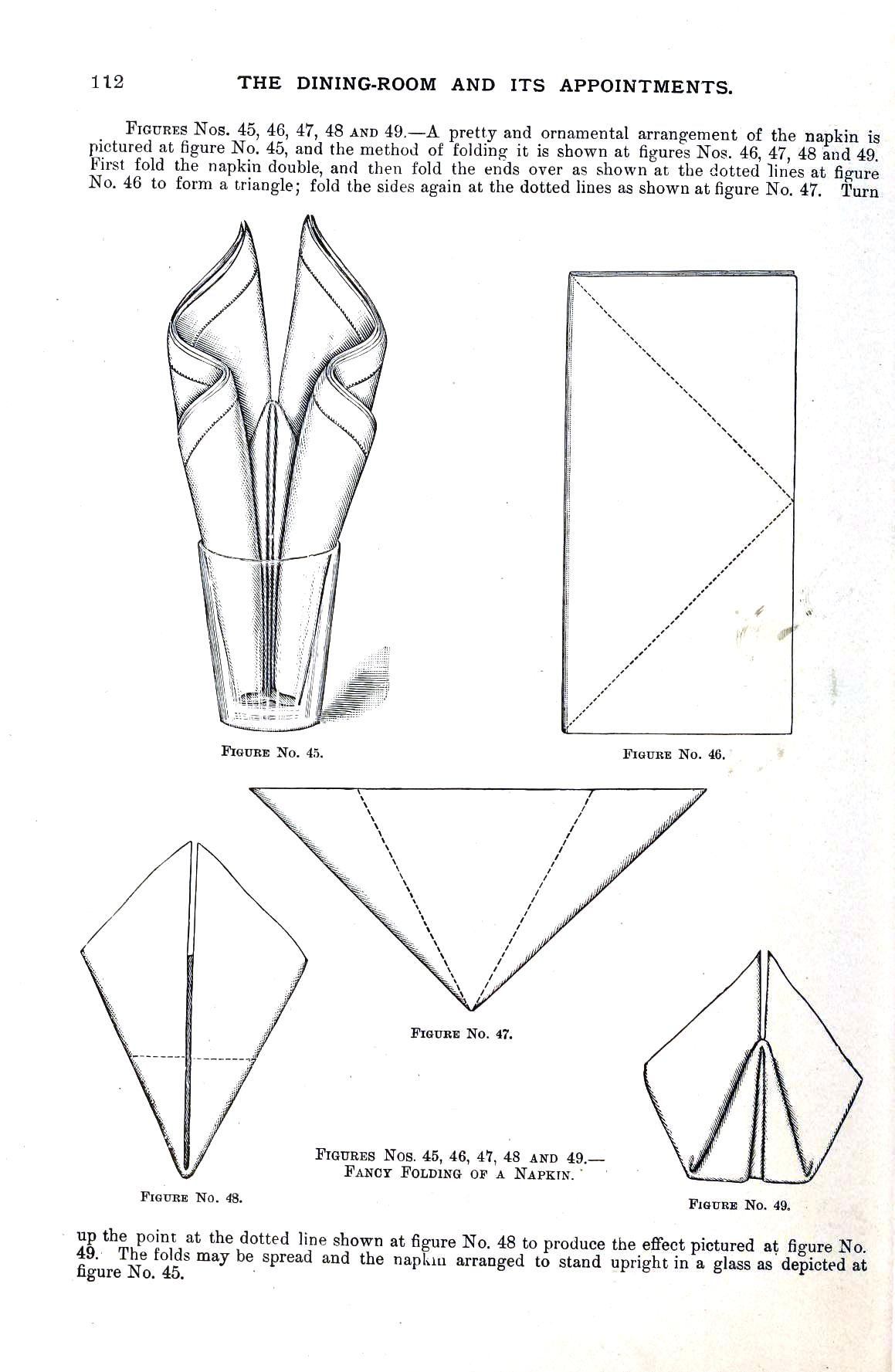 Napkin folding instructions for the pyramid napkin fold - Design Textile Napkin Folding 11 Seek Out Many Awesome Website Design