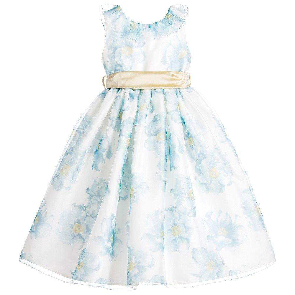Nicki Macfarlane - Girls Floral Organza & Tulle Dress | Childrensalon