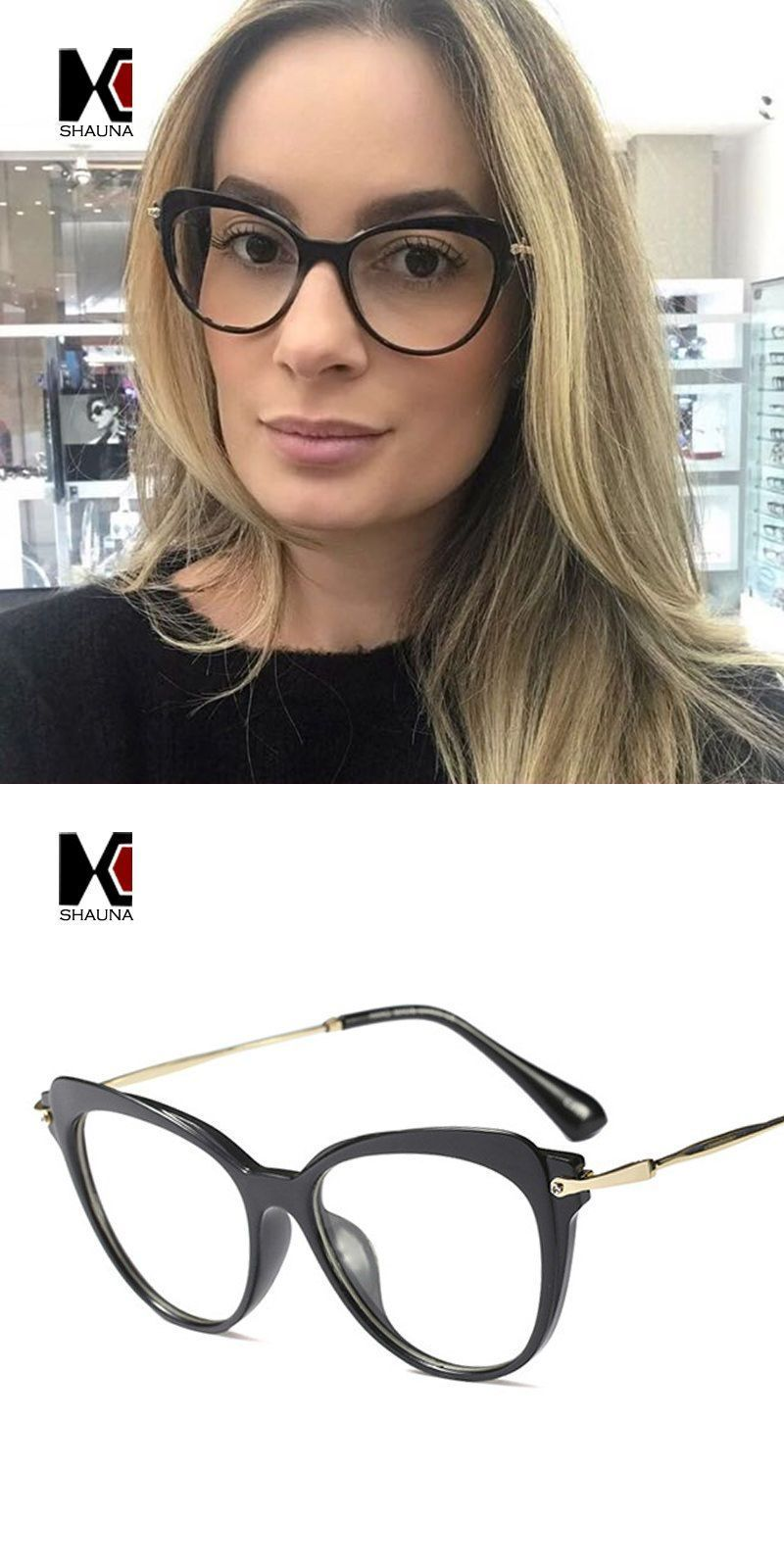 9164e5895a Fashion women cat eye glasses frame anti-blue rays fashion ladies reading  eyeglasses uv400  eyewear  accessories  frames  solid  women  plastic  come   with ...