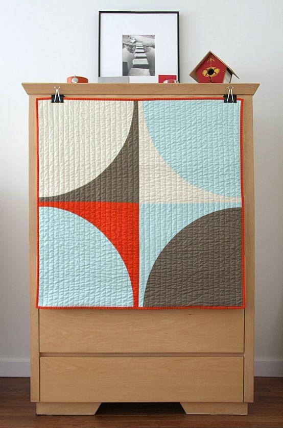 Graphic Modern Baby Quilt – POP