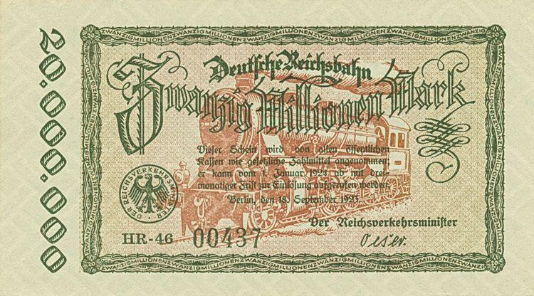 Das Papiergeld der deutschen Eisenbahnen und der