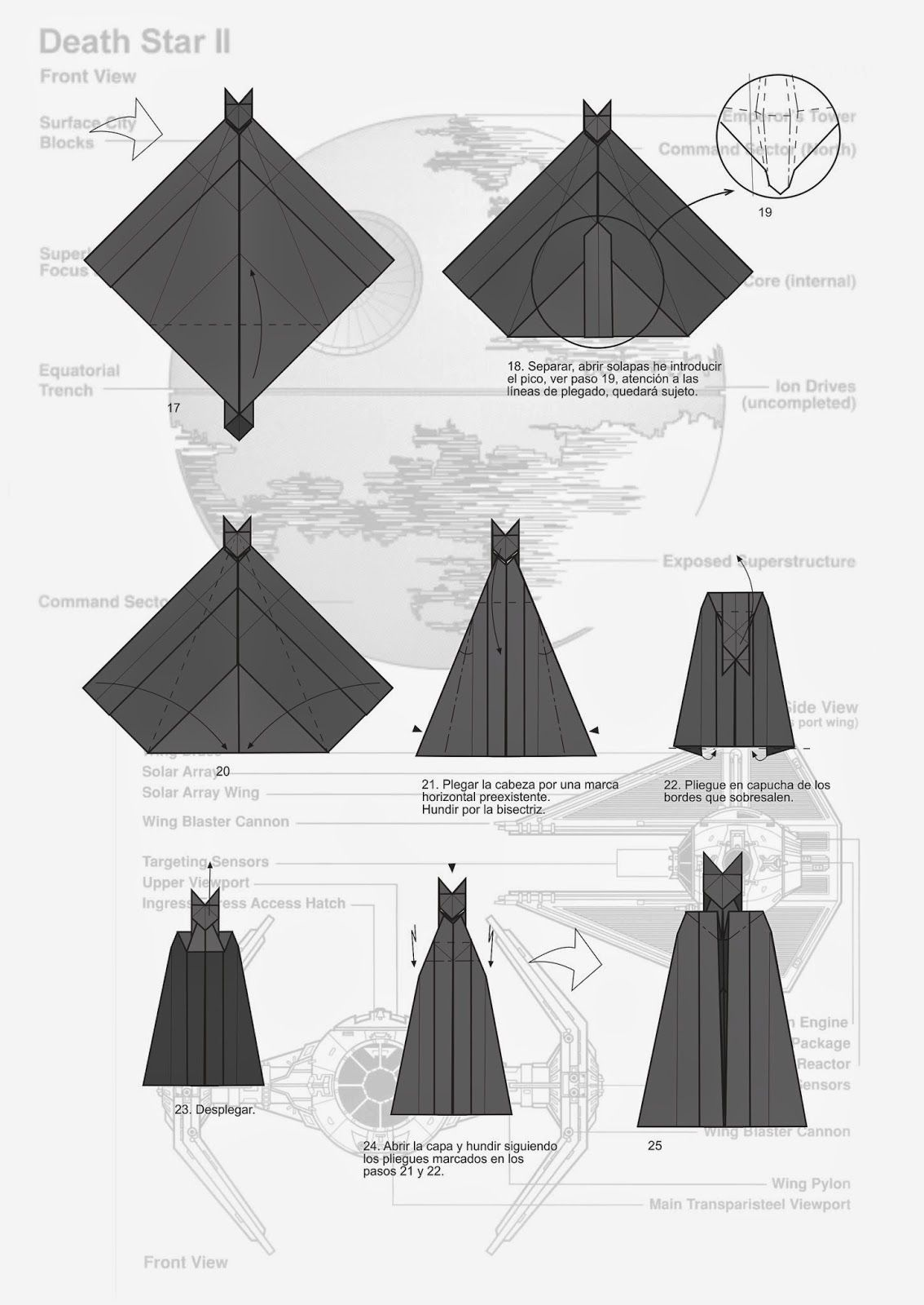 Darth Vader origami diagram | origami | Pinterest ... - photo#11