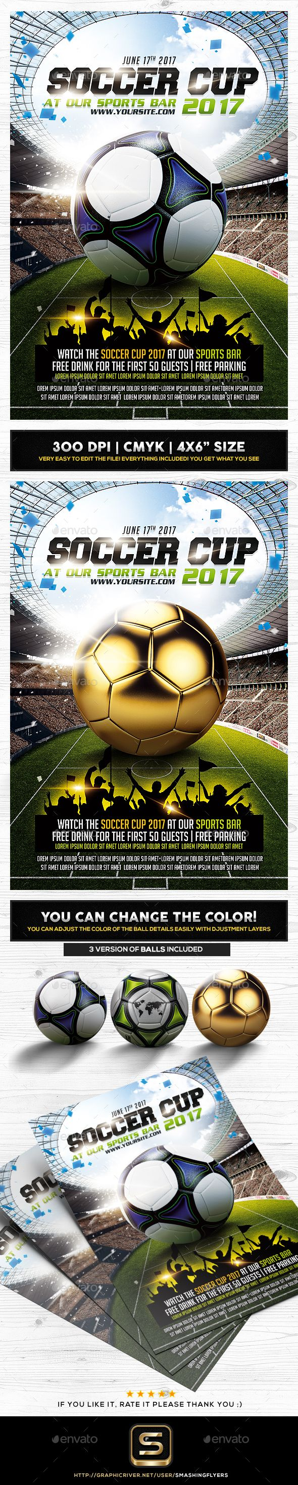 Soccer Cup Flyer  Flyer Template And Event Flyer Templates