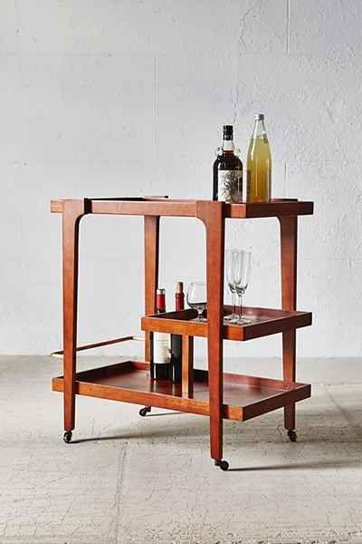 Embly Home Tovah Bar Cart Mid Century Modern