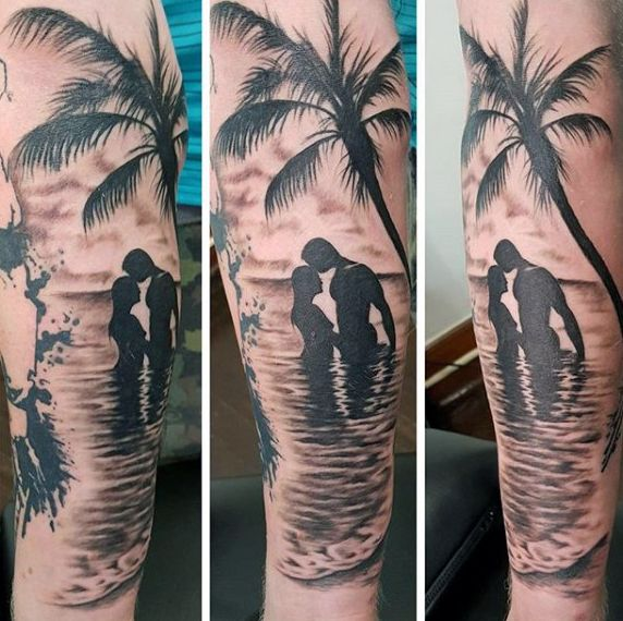 Top 113 Beach Tattoo Ideas 2020 Inspiration Guide Tattoos For Guys Beach Tattoo Palm Tattoos