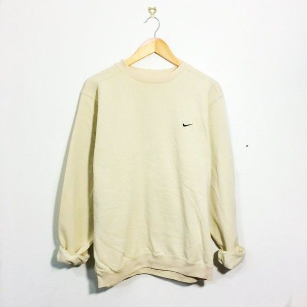 Wheretoget - Light yellow Nike sweatshirt  f42500cd4866