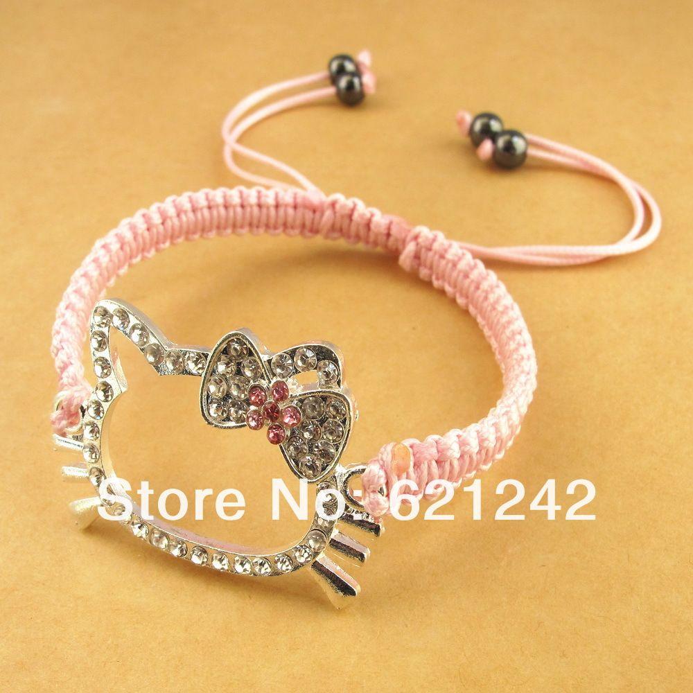 Happy girl charm bracelets lovely hand chain on chiq iq