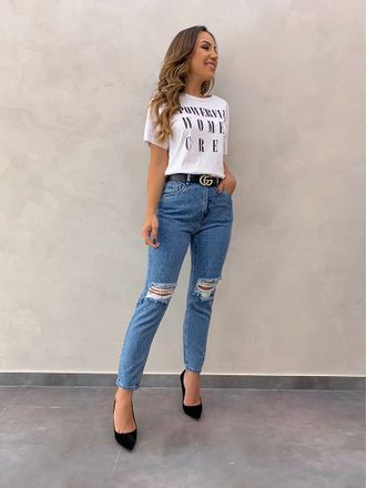 6 maneiras de usar calça jeans e salto alto em 2020   Look