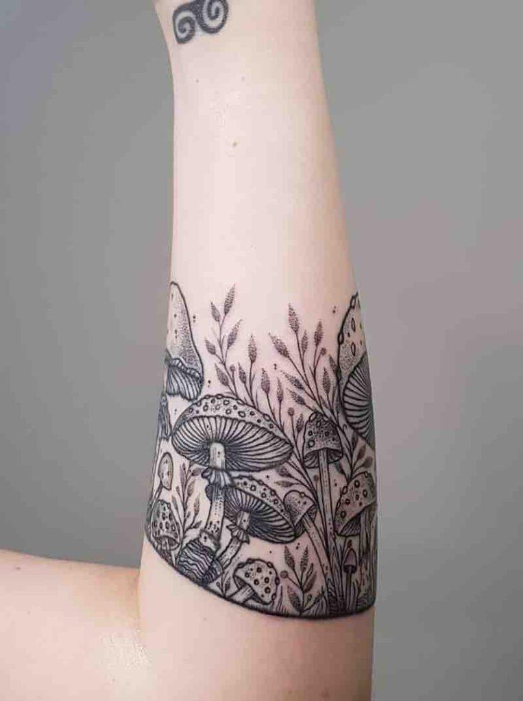 28 Enchanting Mushroom Tattoos