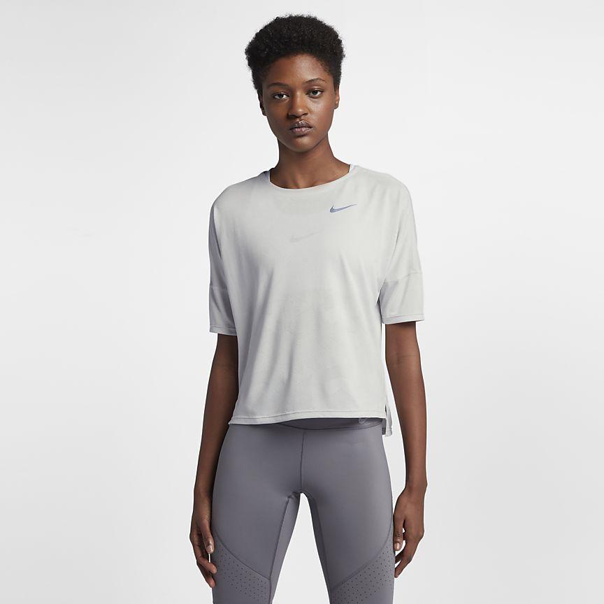 Nike drifit medalist womens short sleeve running top