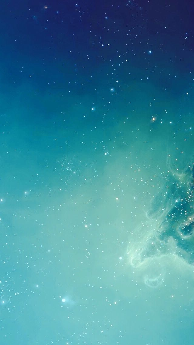 Light Blue Galaxy iPhone Minimal Wallpaper Collection in