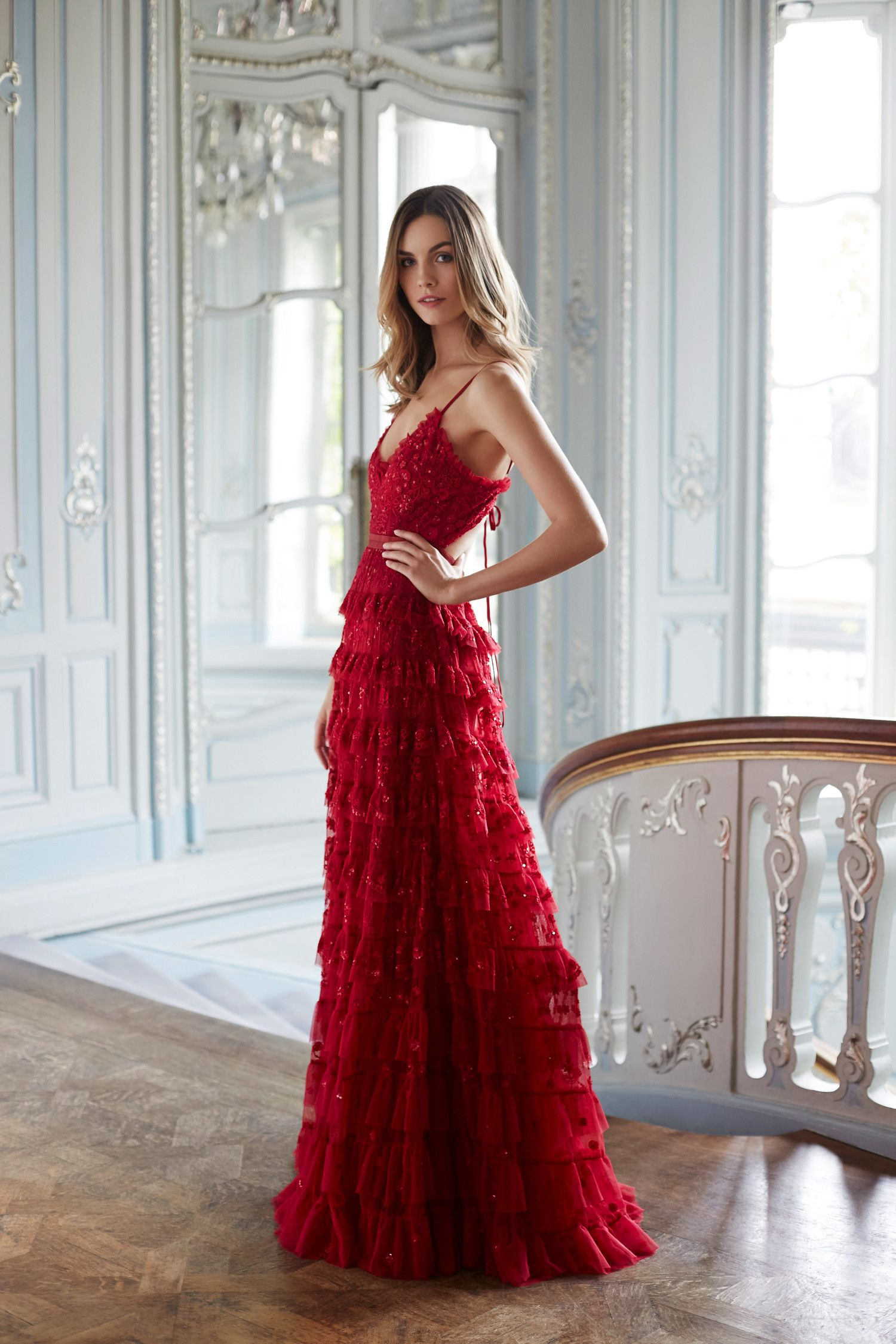 red dress outfit for wedding