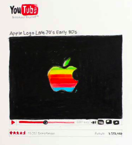 Youtube Drawing Apple Logo back in the days