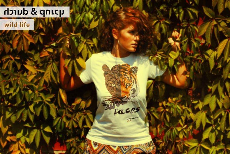 #durch #fashion #tshirt #tiger #leopard #2faces