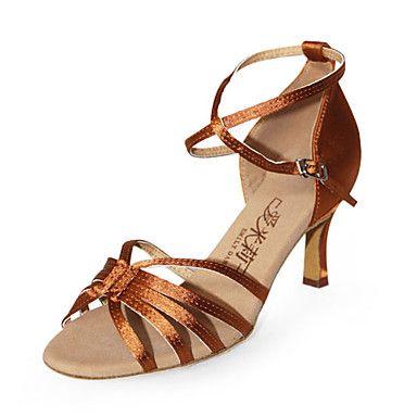 Elise Turq Blue satin and hologram ladies ballroom latin dance shoes