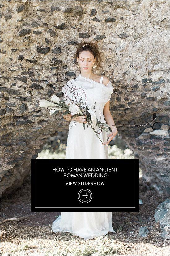 how to have an ancien troman wedding @weddingchicks
