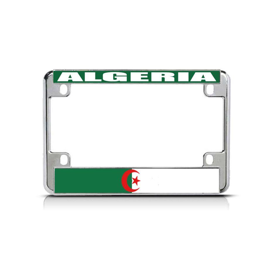 License Plate Frame Mall - ALGERIA Flag Metal Motorcycle Bike License Plate Frame Tag Border, $15.99 (http://licenseplateframemall.com/algeria-flag-metal-motorcycle-bike-license-plate-frame-tag-border/)