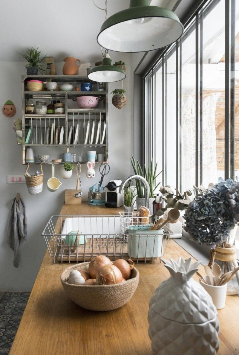 Bienvenue dans un intérieur vintage, scandinave et DIY  Cuisine
