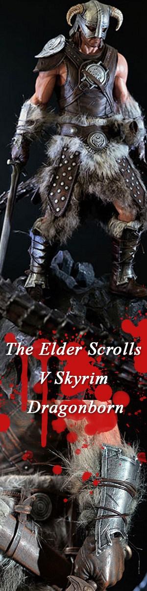 The Elder Scrolls V Skyrim Dragonborn Statue #figure #dragonborn #skyrim #videogame #leather #brown