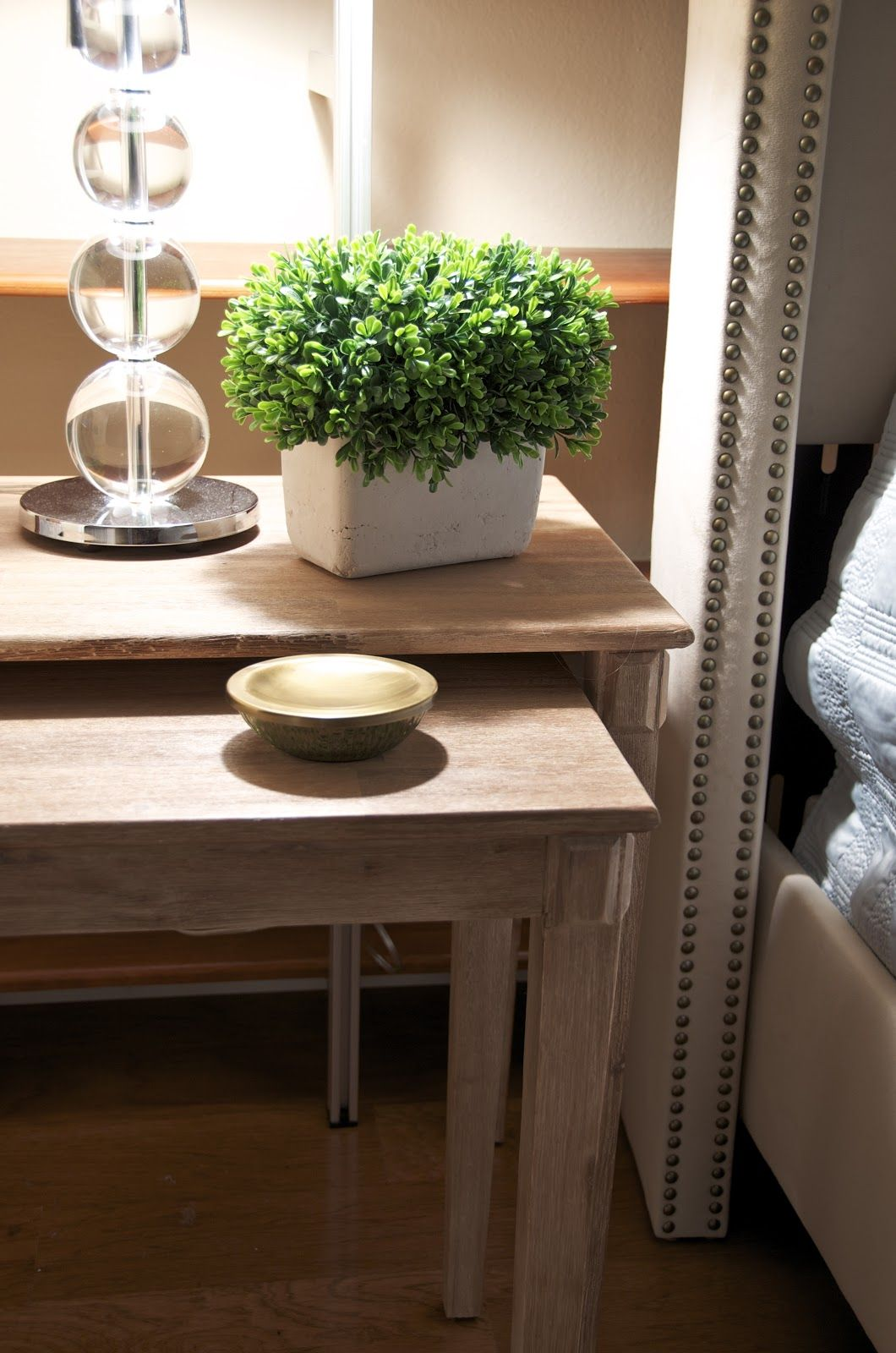 a pair of nesting tables from homegoods make great nightstands in rh pinterest ca
