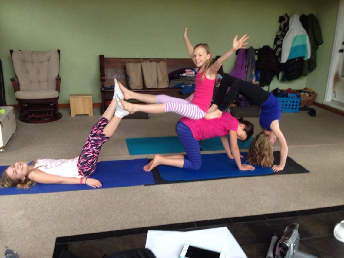 34 Awesome Yoga Poses For 4 People Acro Yoga Poses Basic Yoga Poses Yoga Poses